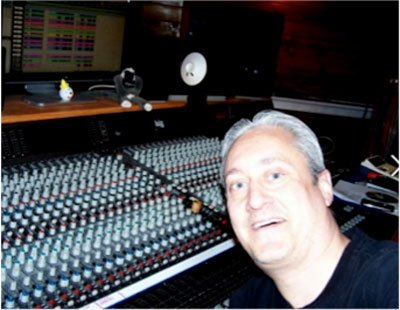 Mike Basile at the sound mixer.