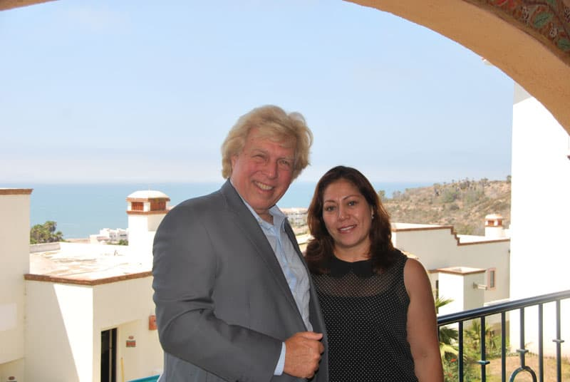 Pete Allman with Maribel Andrade general manager.