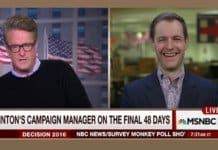 Robby Mook Runs the clock.