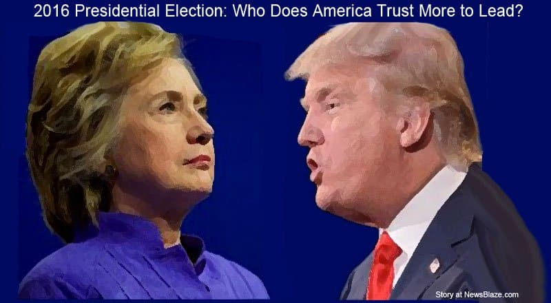 2016 Presidential Election: Who Does America Trust More to Lead?