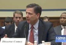 Comey speaks to congress.