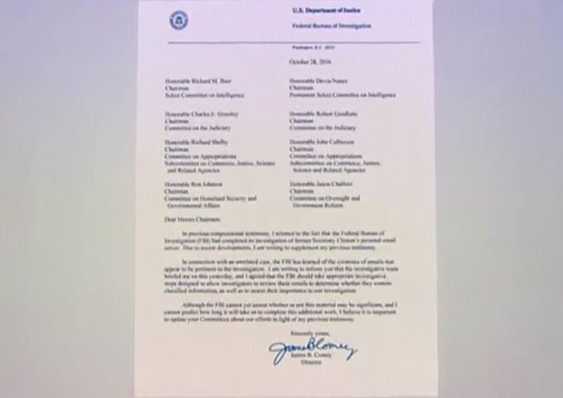james comey letter to congress.