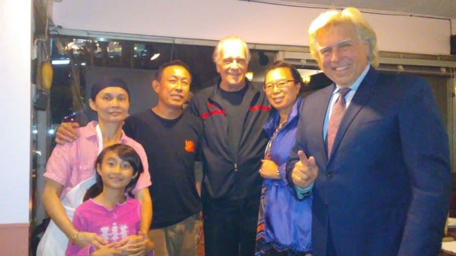 Jirapporn Namprasit and her family with Tom Hallick, Yin Jiang and Pete Allman.