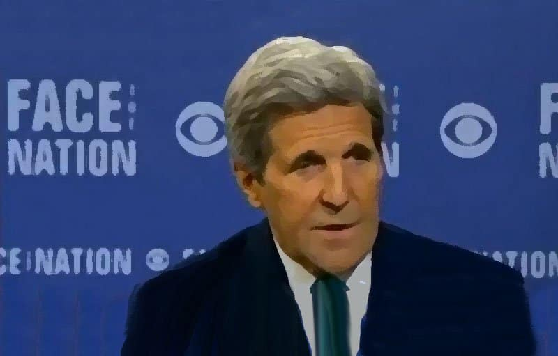 John Kerry on Face the Nation.