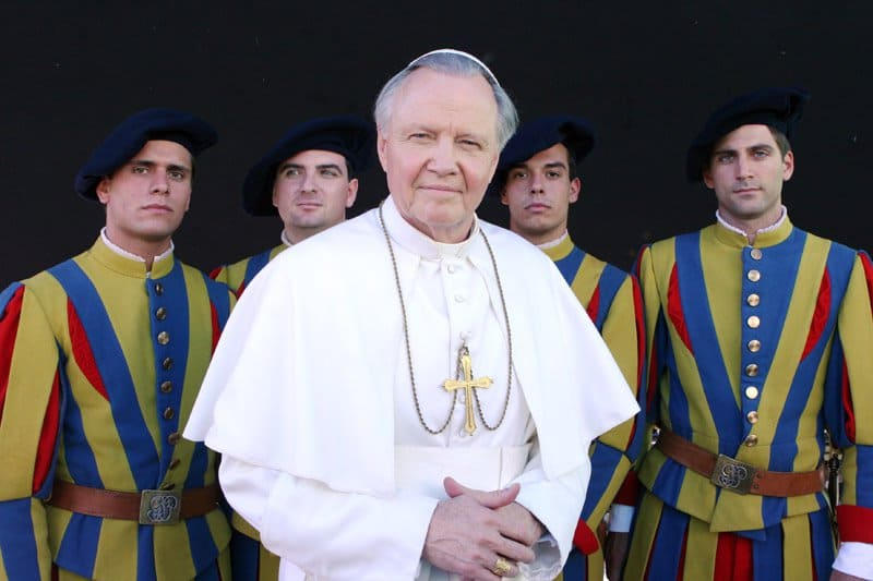 John Paul II movie Jon Voight Swiss still.