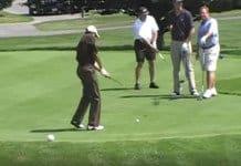 obama golf swing.