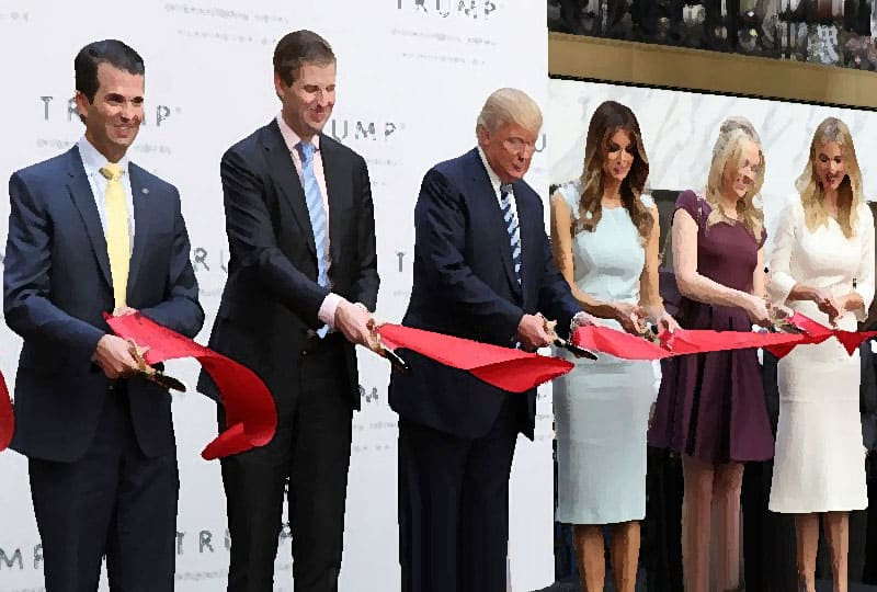 The Trumps open Trump hotel.
