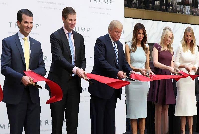 The Trumps open Trump hotel.