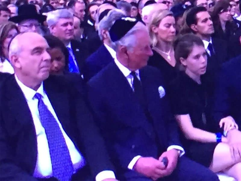 Prince Charles and Yoni Peres. Photo: Nurit Greenger.