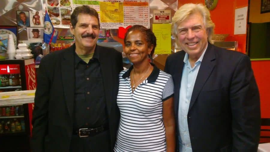 Rich Rossi with Yvonne Buller and Pete Allman at Peppers Fine Foods.