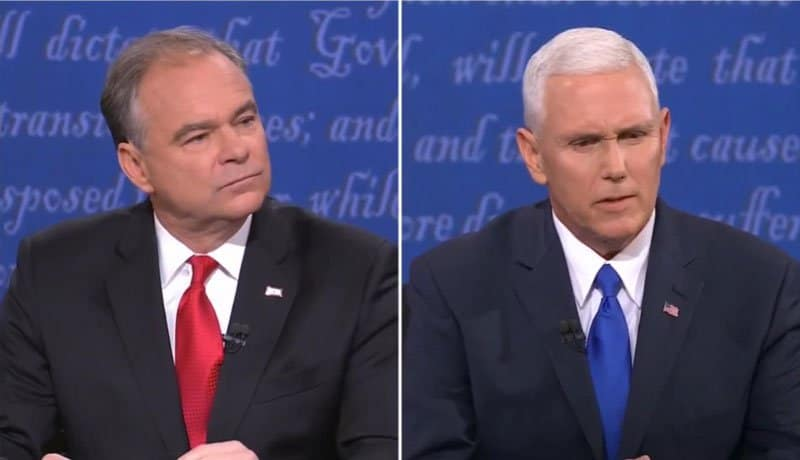 tim kaine interrupts mike pence 70 times.