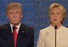 Trump-Clinton final debate.