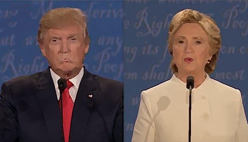 Trump-Clinton final debate.