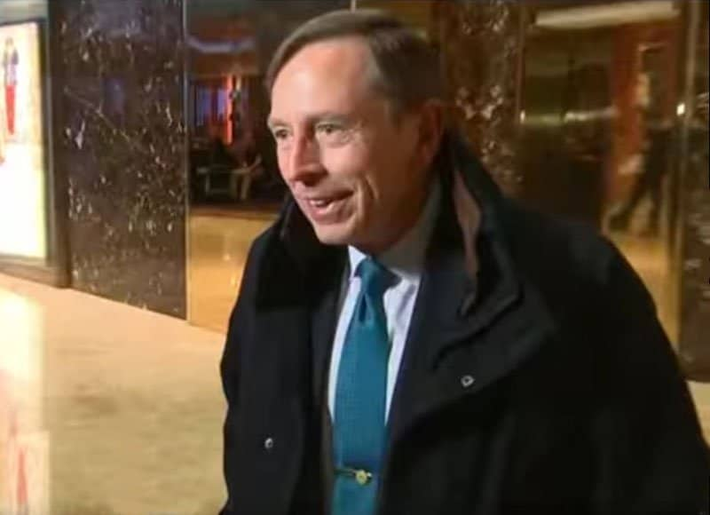 david petraeus leaves trump tower.