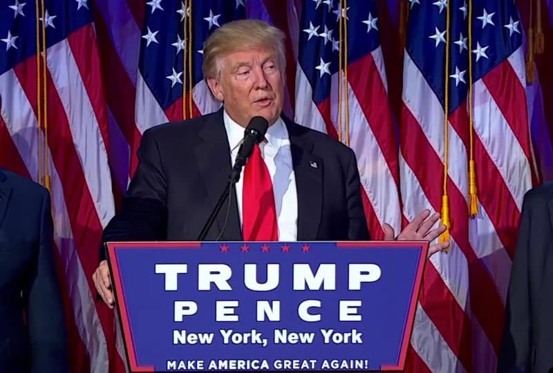donald trump victory speech.