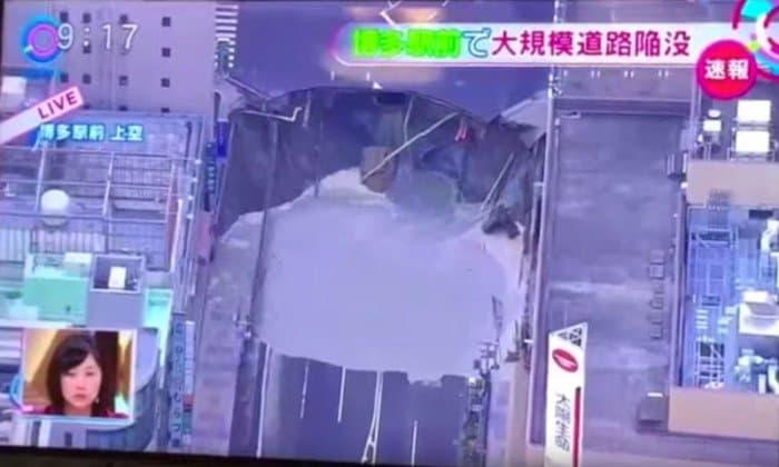 Fukuoka's sinkhole.