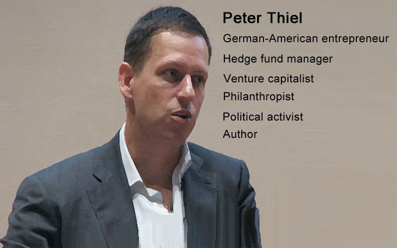 peter thiel, conservative in liberal silicon valley.