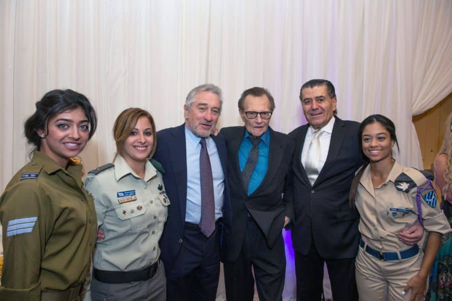 R-center-Haim Saban, Larry King, Robert De Niro and Israeli soldiers