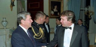 Trump Meets Reagan - 1987.