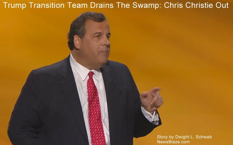 Chris Christie out, Trump team drains the swamp.