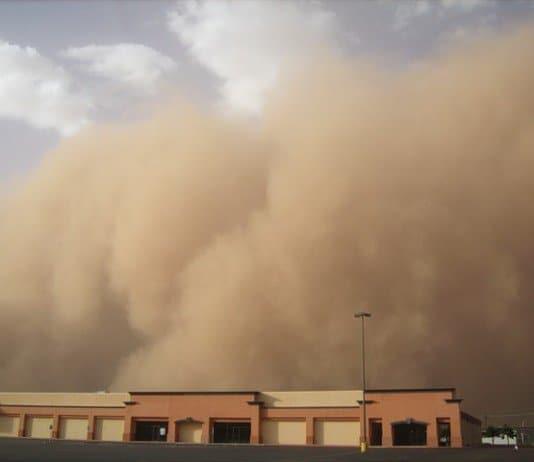 dust storm covers Khartoum.