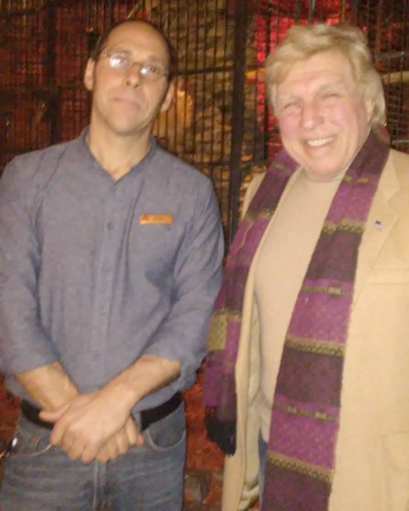 John Meisse, the GM of Mozambique with Pete Allman.