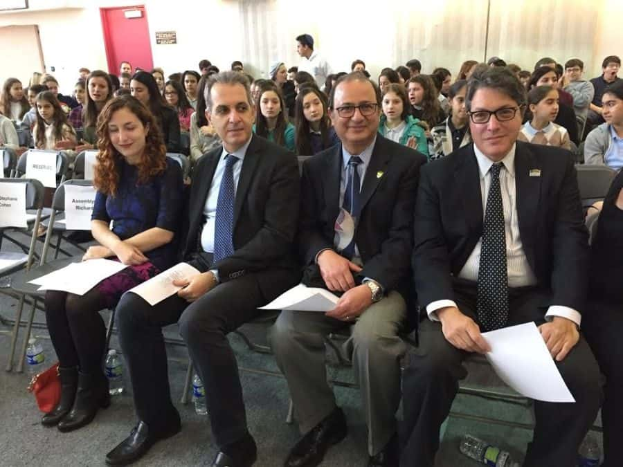 L-to-R-Zeynep Tuna, Consular Office Turkish Consulate, Gregory Karahalios, Consul General Greece, Mahdi Aluzri Beverly Hills City Manager John Mirisch Beverly Hills Mayor