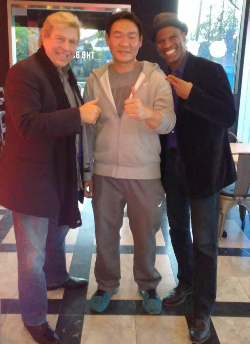Pete Allman Frendy Kim and Tony Blindell.