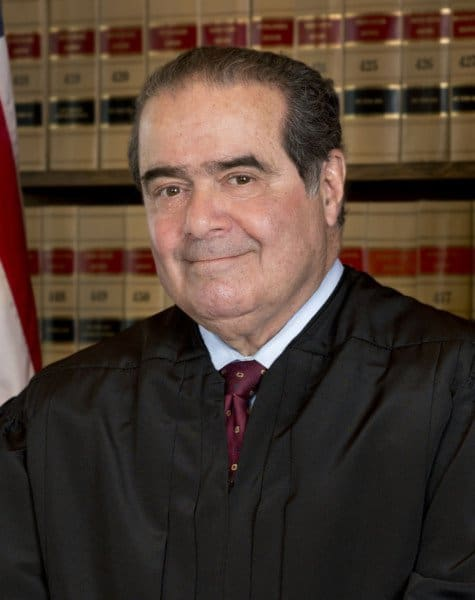 The Late US Supreme Court Justice Antonin Scalia - Author of the Landmark decision on the Second Amendment - District of Columbia v. Heller. (This file is a work of a United States federal court, taken or made as part of that person's official duties. As a work of the United States Federal Government, the file is in the public domain in the United States.)