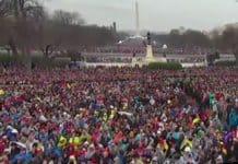 crowd at trump inauguration.