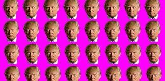 US President Donald Trump everywhere.