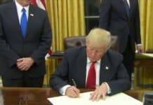 donald trump signs obamacare order.
