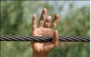 iran: boy lost fingers