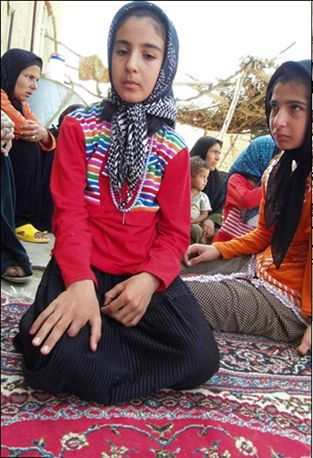 iran: girl lost finger.