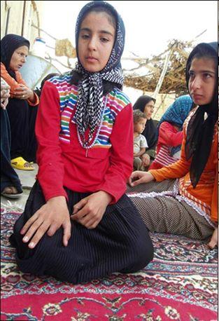 iran: girl lost finger.