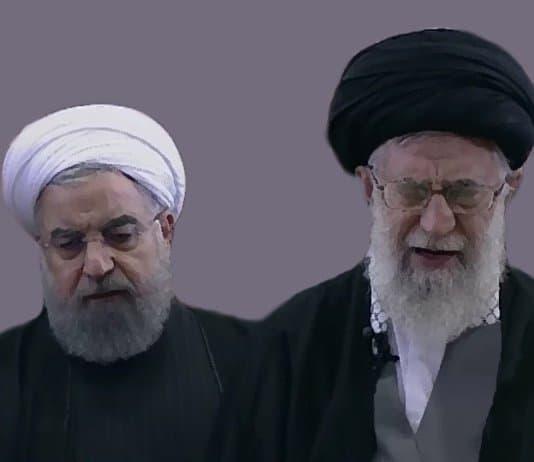 Iran leaders - Rouhani and Khamenei