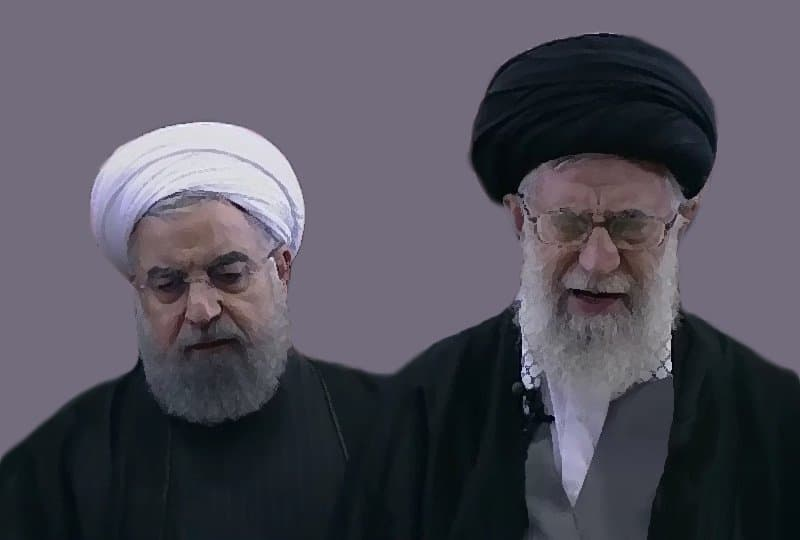 Iran leaders - Rouhani and Khamenei