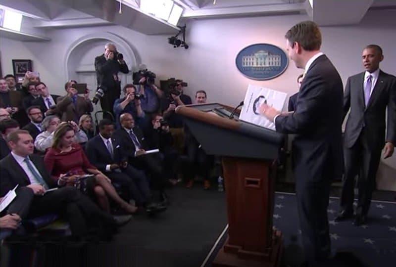 Josh Earnest surprised by Obama.