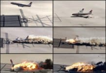 Plane crash captured in pictures.