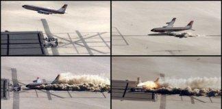 Plane crash captured in pictures.