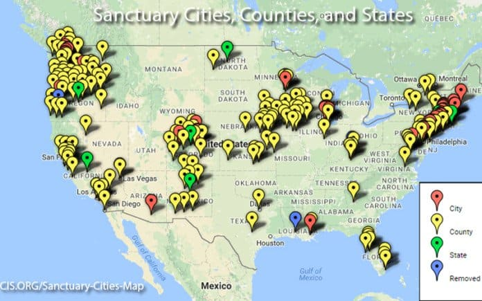 sanctuary cities map.
