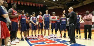 2017 UD Vitale addresses 2017 University of Detroit Mercy Titans.