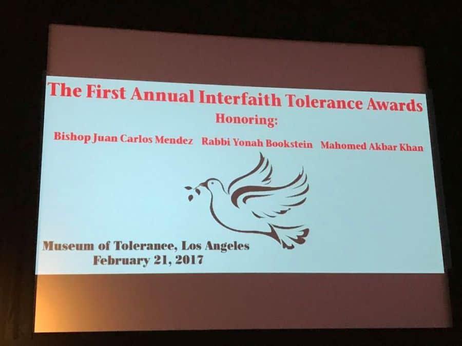 Interfaith Tolerance Awards at MOT-Photo Nurit Greenger