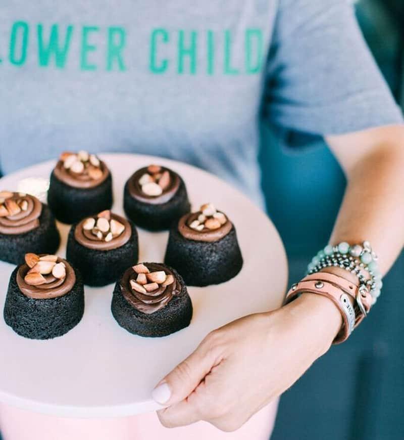 flower child gluten free chocolate cake.