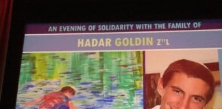 Lt. Hadar Goldin and his art.