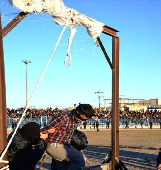 iran executes young man.