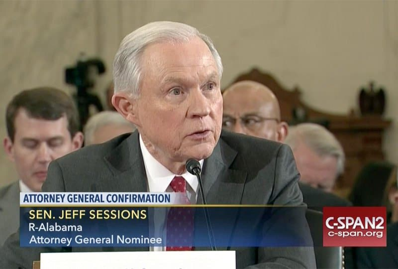 jeff sessions attorney general. Photo: CSPAN.