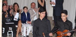 Keshet Eilon 2 young protégé, L-Mor Yanni and R Eesa Khoury.