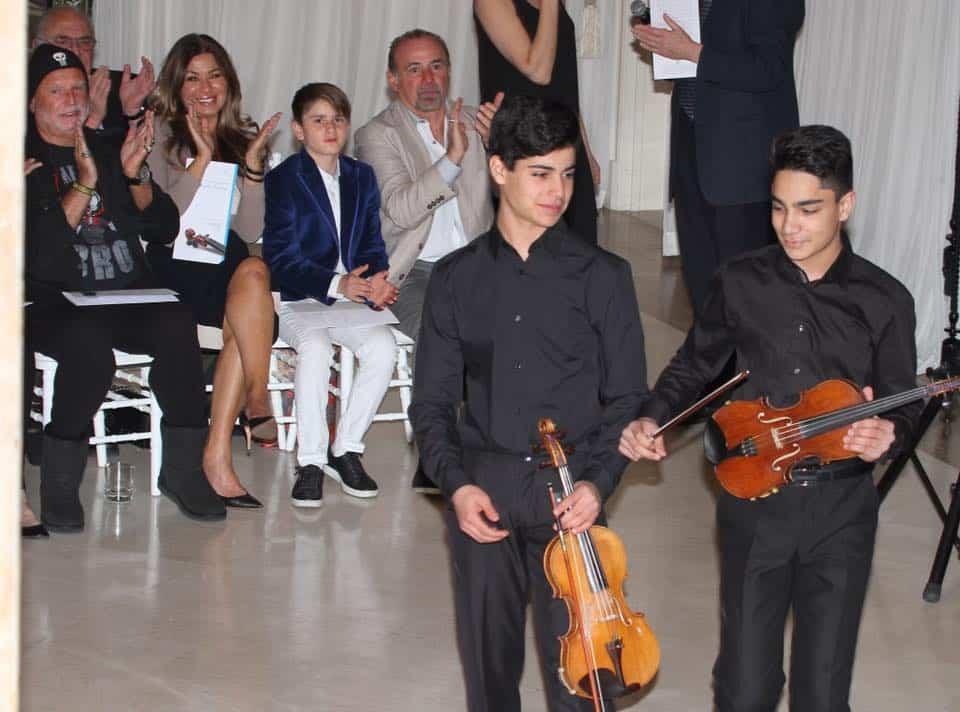 Keshet Eilon 2 young protégé, L-Mor Yanni and R Eesa Khoury