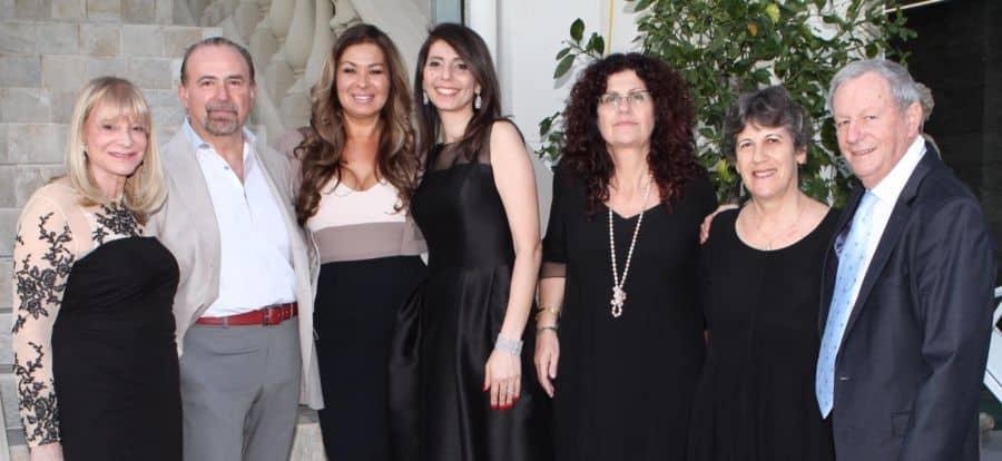 R-Gilad Sheba, Center's General Manager and wife Ruth, supporters Nitza Avidan, Betty Grinstein, Host Tsipi Mani, Host Dani Mani, supporter Raquel Ramati